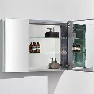 AVA Bathroom Furniture - Bathroom Furniture - Mirror Cabinets - Aluminium Glass