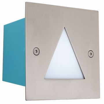 Eurolux - Bulkhead Square Stainless Steel LED Footlight with Triangle