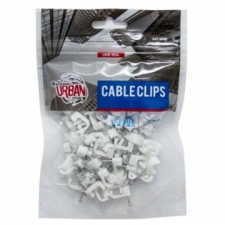 Araf Industries - Electrical Accessories - Cable Clips - White