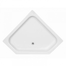 Libra (Sanitaryware) - Pentagon - Showers - Shower Trays - White