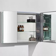 AVA Bathroom Furniture - Bathroom Furniture - Mirror Cabinets - Aluminium Glass