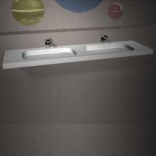 Dado Creations - Integrated - Basins - Vanity - Pearl White