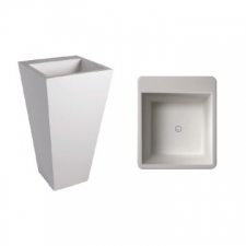 Dado Creations - Pillar - Basins - Freestanding - Pearl White