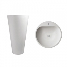 Dado Creations - Pillar - Basins - Freestanding - Gloss White