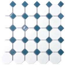 Douglas Jones - Geometric Glam - Tiles - Mosaics - White Octagonal Inserts
