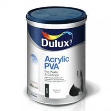 Dulux - Acrylic PVA - Paint - Interior & Exterior - Brilliant White