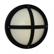 Eurolux - Bulkhead light Solo round Black