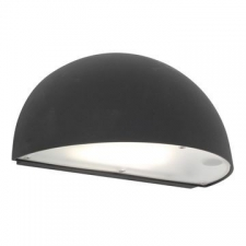 Eurolux - Bulkhead light Duett half moon down facing Black