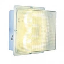 Eurolux - Bulkhead light square aluminium/polycarb Silver