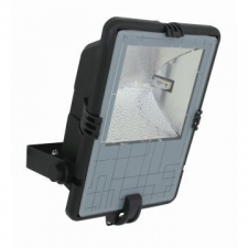 Eurolux - Flood & Security Light Metal Halide Plastic Body Black with Glass Shade