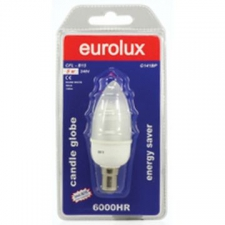 Eurolux - CFL Candle 3W B15 Warm White B/Pack