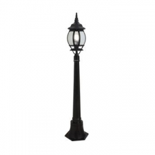 Eurolux - Pedestal pole Lantern light 8-panel 1.1m Black