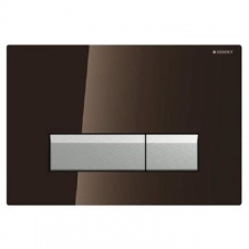 Geberit - Sigma40 - Actuator Plates - Dual Flush - Umber Glass