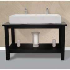 Styleline - Butcher Block - Bathroom Furniture - Cabinets - Black Woodgrain