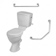 Vaal Sanitaryware - Pearl Paraplegic Suite with Seat & 2 Rails - Toilets - Paraplegic - White