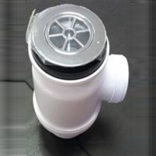 Isca (Taps & Mixers) - MCalpine - Wastes, Traps & Overflows - Shower Traps - White