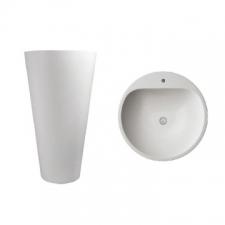 Dado Creations - Pillar - Basins - Freestanding - Pearl White