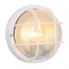 Eurolux - Bulkhead light Plastic round with grid White