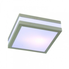 Eurolux - Ceiling bathroom light stainless steel square