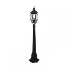 Eurolux - Pedestal pole Lantern light 8-panel 1.1m Black