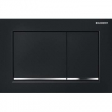 Geberit - Omega30 - Actuator Plates - Dual Flush - Black / Bright Chrome / Black