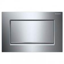 Geberit - Sigma 30 - Actuator Plates - Single Flush - Bright Chrome-Plated / Chrome Brushed / Bright Chrome-Plated