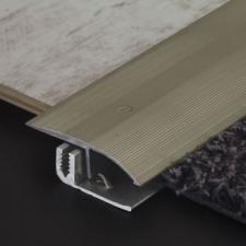 M-Trim - Al screw fix trans cover undrilled 46mm x 2.7m CBZ