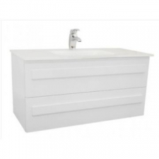 Casso - Darlington - Vanities - Basin Cabinets - High Gloss White & Clear/White